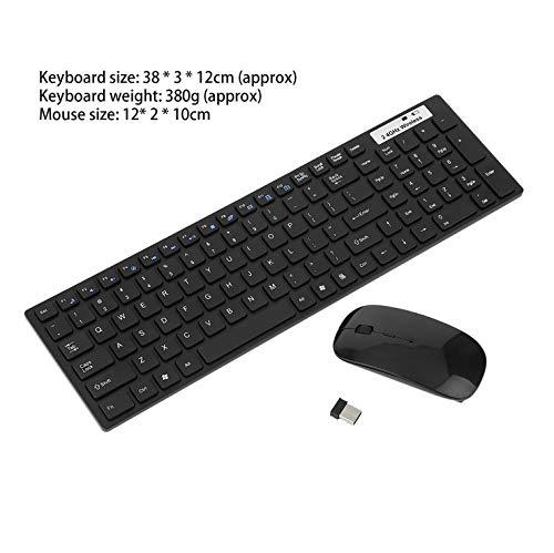 OUYAWEI Erelectronics 2,4 GHz draadloos toetsenbord muis Combo Ultra-dunne Mini Computer draadloos toetsenbord muis Kit