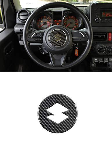 Vpcar Jimny - Funda decorativa para volante de coche de fibra de carbono para Suzuki Jimny 2019-2020