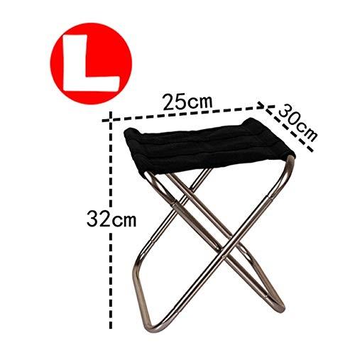 Silla de Camping Plegable Silla de Pesca de Picnic Ligera Paño de Aluminio Plegable Silla de Playa portátil para Exteriores Muebles de Exterior - Gris-L
