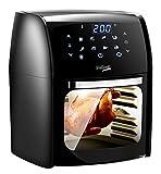 DeKoch Airfryer 12L XXL Friggitrice ad aria calda con touch screen a LED, 8 programmi, mini forno, friggitrice senza olio, accessorio per la preparazione di alimenti 1800 Watt