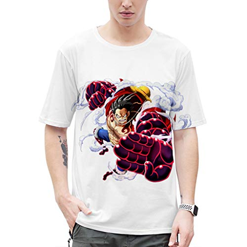 Camiseta Anime One Piece Masculina Camisa One Piece Anime Estampada en 3D Feminina Camiseta Unissex Anime ONR PIECE Adolescente e Adulto (A,3XL)