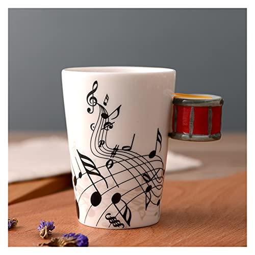 JSJJAQW Taza de Agua Copa de cerámica Creativa Leche Breakfast Cupoffice Taza Nota Instrumento Musical Taza de Agua Taza Taza Tazas Tazas de café (Capacity : 250ml, Color : 29)