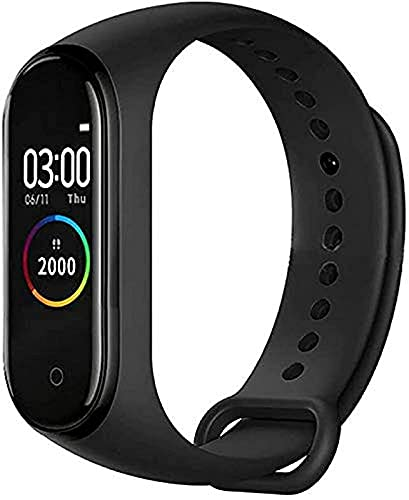 M4 Band Bluetooth Smart Band OLED Touch Display Activity Tracker Fitness Band Waterproof & Sweatproof Long Battery Life Suitable for All Android & iOS Devices - (M4 Band, Black)