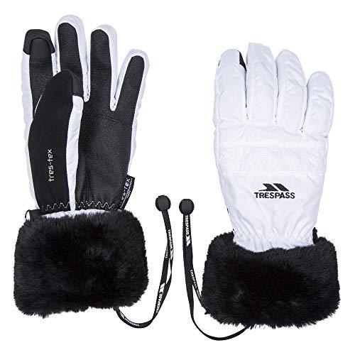 Trespass Damen Ski-Handschuhe Yanki (S) (Weiß)
