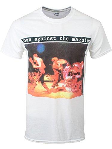 Rage Against The Machine Herren T-Shirt Anger Gift weiß. Offiziell lizenziert