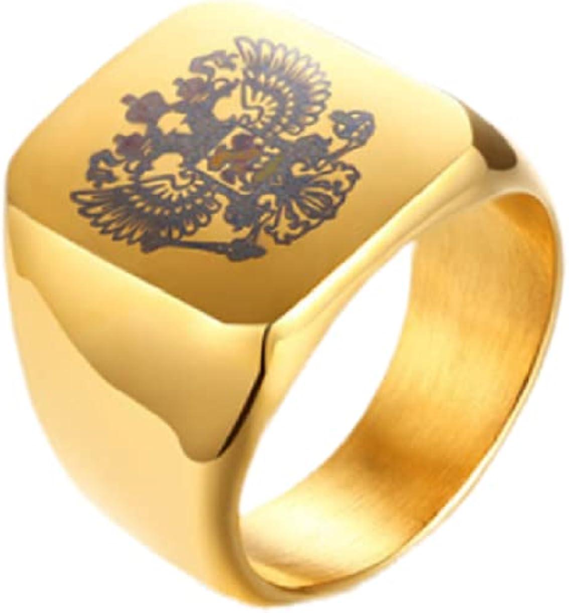 MayiaHey Gothic Flying Eagle Ring for Men, Stainless Steel Flying Hawk Ring Viking Eagle Ring for Boys