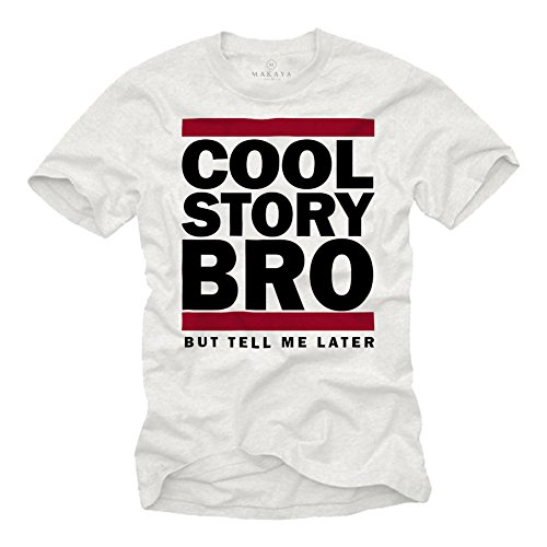 MAKAYA Maglietta Uomo Divertenti - Cool Story Bro - T-Shirt How i Met Your Mother S