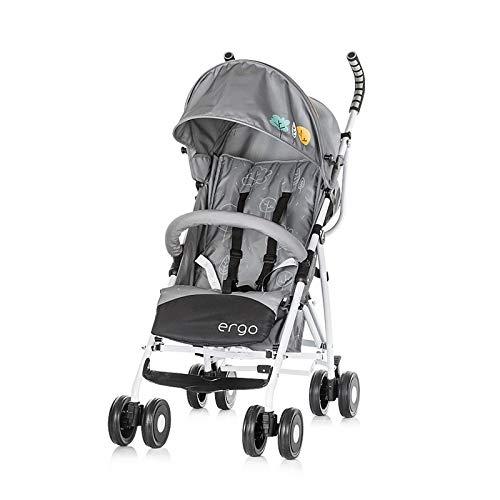 landau Chipolino Ergo 2018, pliable, ceinture de sécurité 5 points, pliable Support avant, Farbe:gris