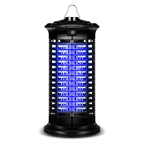 Electric Bug Zapper, Mosquito Killer with Light Bulb Lamp Powerful Flying Insect Killer Mosquito Attractant Trap with Hook for Indoor and Outdoor (Black)