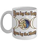 N\A Taza Infantil de Luna Regalos paganos Taza de café Bruja Wicca Luna Amante del Sol Druida Amor Oculto Magia Amante de la Tierra Ritual Taza esotérica Idea de Regalos para Ella