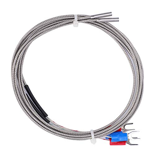 Sensor Cable 3 x 15 x 1000 4Pcs K‑Type Thermocouple with Great Workmanship for 3D Printer