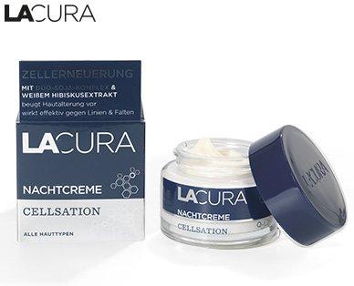 Lacura Cellsation Nachtcreme mit Duo-Soja-Komplex und weißem Hibiskusextrakt Inhalt: 50ml Für straffe Haut hilft gegen Linien und Falten.