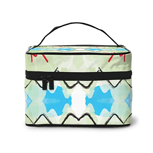 Vanity et Trousses à Maquillage City Attractions (3861) Pattern Portable Travel Makeup Cosmetic Bags Organizer Makeup Boxes
