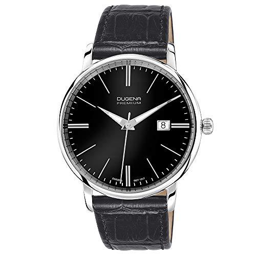 Dugena Premium 7000180 - Orologio da polso uomo, pelle, colore: nero