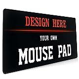 Naisde Tappetino per Mouse da Gioco, Tappetino da Tavolo di Grandi Dimensioni 900 x 500 x 4mm, Base in Gomma Antiscivolo, Superfici Lisce Tappetino per Mouse(Personalizzazione Personalizzata)