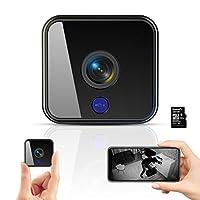 Mini Wlan Kamera: Diese Mini Camera ist tragbar und in der Tasche . Sie eignet sich perfekt als drahtlose minikamera für zu Hause oder für Haushälterin / Kindermädchen / Babyphone , um sowohl Schnappschussbilder als auch Videos aufzunehmen. Einfache ...