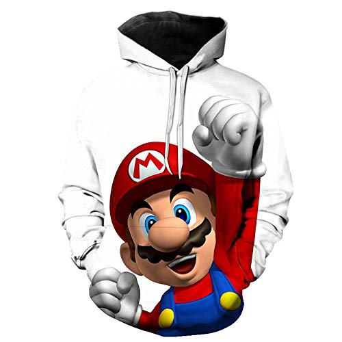 3D Unisex childSuper Smash Bros Teen Hooded Sweatshirt Boys and Girls Hoodies 3D Printed Hoodies Sweater Athletic Sweatshirts -A_2XL