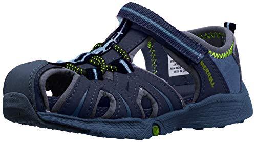 Merrell baby-boys Hydro Junior Water Sandal, Navy/Green, 7 M US Toddler