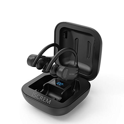 True Wireless Earbuds Bluetooth 5.0 TWS Stereo Headphones in Ear Built in Mic Headset 24 Hrs Total Playback Support Single or Twin Model for Cycling Jogging Running Driving