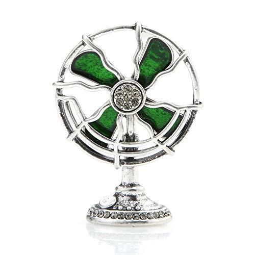 CLEARNICE Nuevo Diseño Ventilador Eléctrico Broches para Las Mujeres Metal Esmalte Fan...