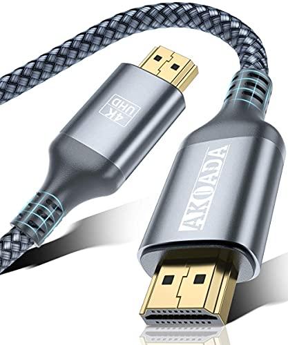 Cavo HDMI 4K Ultra HD 2m, AkoaDa Cavo HDMI 4K 2.0, Cavo HDMI, Cavo HDMI, alta velocità Supporta Ethernet 3D, 4K e ritorno audio-2160p Full HD 3D, HDCP 2.2, HDTV, Blu-Ray, TV, PS3, PS4, Xbox, HDR
