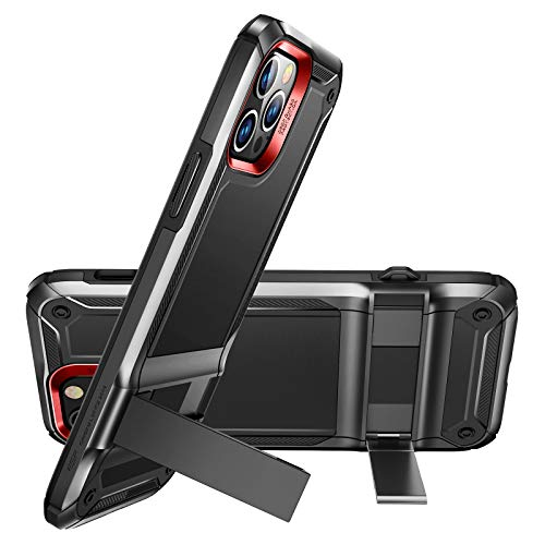 ESR Machina Series Case Compatible with iPhone 12/Compatible with 12 Pro Case (2020) [Patented Vertical/Horizontal Kickstand] for 6.1-Inch - Black