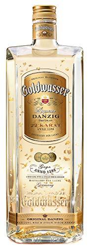 Original Danziger Goldwasser, Kräuterlikör 40%, Likör aus feinsten Kräuter und Gewürzen in Verbindung mit 22-karätigem Gold, wahrscheinlich ältester Liqueur (seit 1606) der Welt