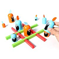 (Big Eat Small) Tic-Tac-Toe Game, Surprise Tic Tac Toe, Family Party Fun Board Game, Strategy Toy For Kids