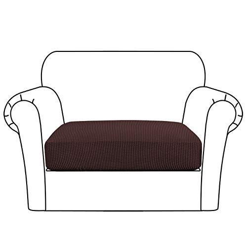 Flamingo P Stretch Cushion Cover for Sofa Chair Loveseat, Elastic Couch Slipcover Furniture Protector Decor with Soft Flexibility (1 Piece Cushion Cover, Brown)