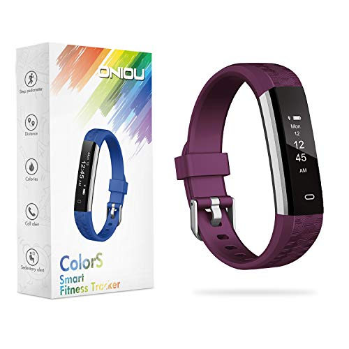 ONIOU Kids Fitness Tracker Watch, IP67 Waterproof Activity Tracker with Sleep Monitor, Alarm Clock, Sedentary Reminder, Pedometer Watch with Calorie Counter, Ideal Gifts for Children, Purple