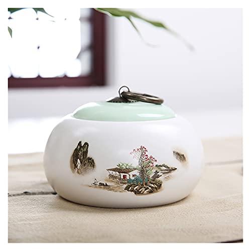 Baobaoshop Tanque de Almacenamiento Tarro Sellado longquan para café Cerámica Cerámica CANS Celadon Tea Tea JARJE DE Miel JARJE DE CARACHER (Color : 7)