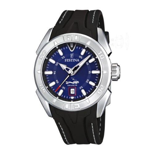 Festina Herren Analog Quarz Uhr mit Kautschuk Armband F16505/8