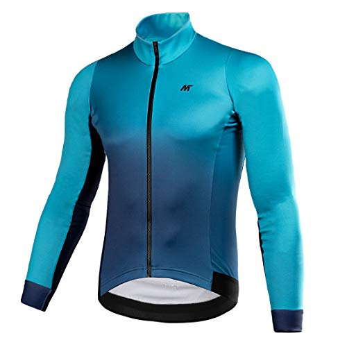 Mysenlan Giacca Invernale da Bici da Uomo Resilience Fleece Thermal Warm UP Maglie per Bicicletta da Ciclismo Maniche Lunghe con Zip Integrale