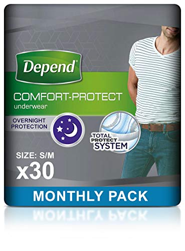 Depend Comfort Protect Incontinence Pants for Men, Small/Medium - 30 Pants