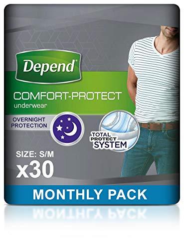 Depend pequeño/mediano de incontinencia pantalones de ropa interior para hombre–Pack de 30