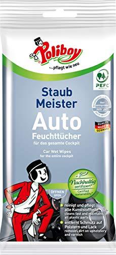 Poliboy - Staubmeister Auto Feuchttücher - perfekt für die gründliche Reinigung des Innenraums - Einzeln - 1x20 Stück - Made in Germany