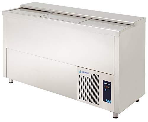 Botellero refrigerado industrial INOX 1,5 m - Maquinaria Bar Hostelería