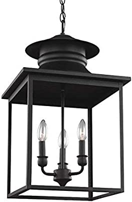 Alico Lighting 1726ST Acclaim Lighting Stone Finished Outdoor Pendant with Clear Seeded Glass Shades