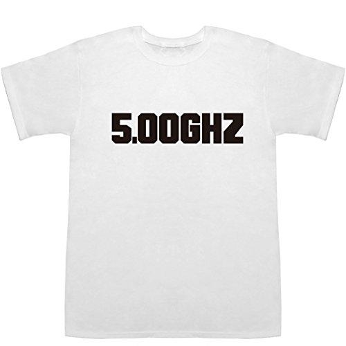 5.00GHz Tシャツ ホワイト XS【5.00 ghz】【5.00 ghz processor】
