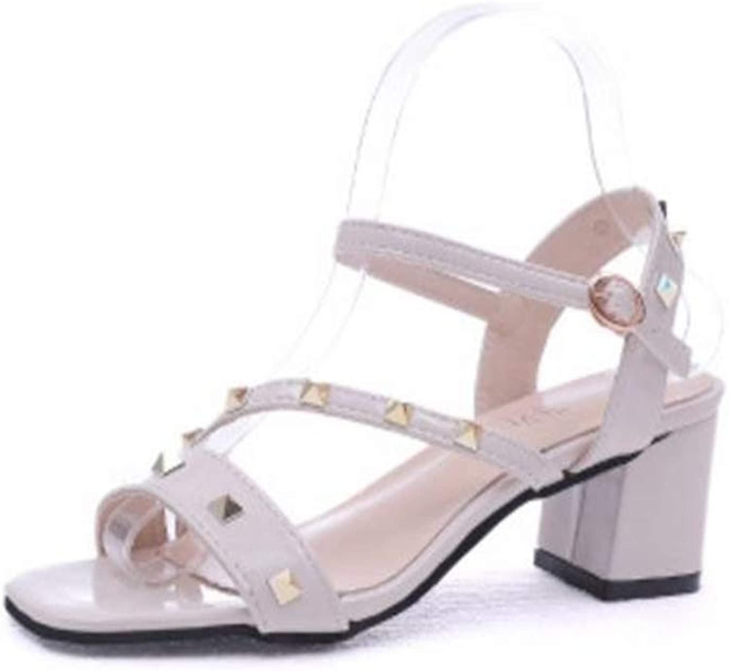 FORTUN Summer New Sandals Thick with Women's shoes with a Buckle in The shoes