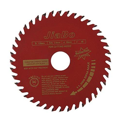Haudang 40T - Hoja de sierra de metal rotativa para corte de madera (110 mm de diámetro)