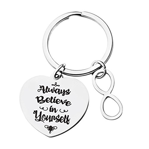 Inspirational Gift for Women Keychain Engraved Aways Believe in Yourself