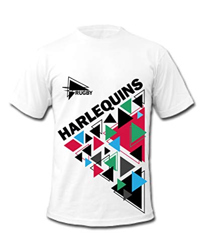 Harlequins Rugby Quins Style T-Shirts Gr. XL, weiß