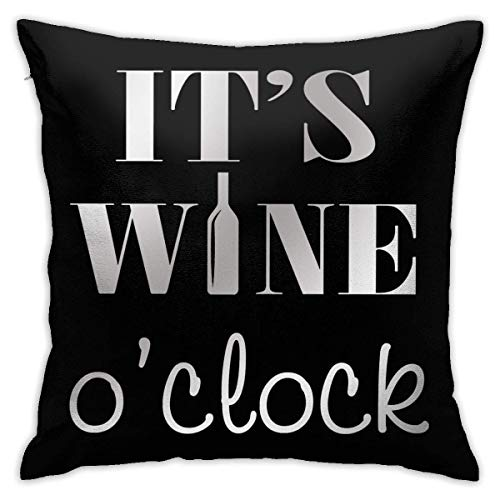 Throw Pillow Cover Cushion Cover Pillow Cases Decorative Linen Coffee And Wine for Home Bed Decor Pillowcase,45x45CM