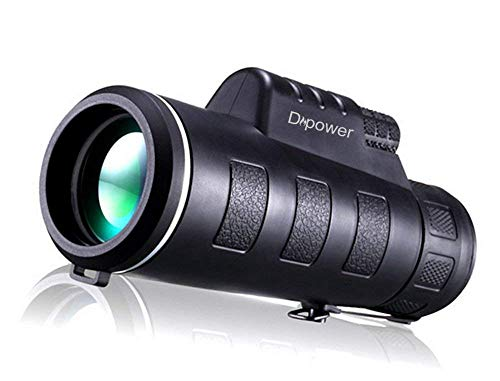 DFlamepower 10x42 HD Monocular with Full Optical Prism and Dual Focus Telescope, Waterproof, Portable Spotting Scopes for Bird watching