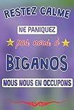 Restez calme, ne paniquez pas, nous, à Biganos nous nous en occupons: journal | agenda | carnet de notes avec page lignée