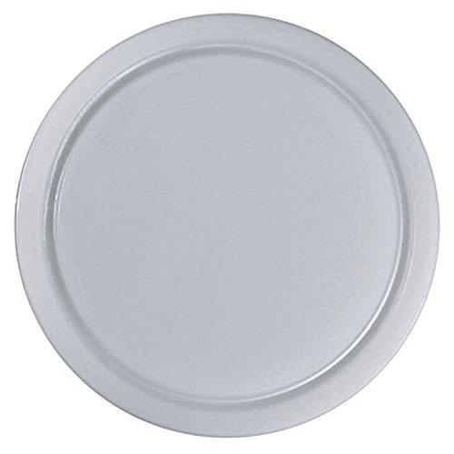 DaloLindén 502 Schneidbrett mit Saftrille, Kunststoff, rund, Ø 25 cm, weiß (6 Stück)