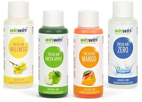 winwin clean Systemische Reinigung 4 x Fresh AIR 100ML I Wellness I Mango I Green Apple I Zero I AUCH BESTENS GEEIGNET FÜR DEN Einsatz IM proWIN AIR Bowl
