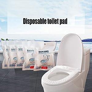 5PC Einweg Toilettenauflagen Toilettenbezüge,WC Toilette Auflage Toiletten Sitzbezug WC-Sitz Matte Toilettenpapier Pad Kinder und Erwachsene Super für Unterwegs Klo