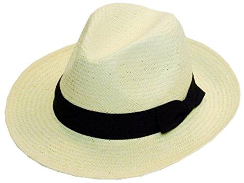 Chapeau de paille Chapeau avec bande noire